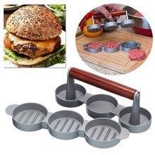 Мини Пресс для формирования котлет приспособление для приготовления мяса 3 слота антипригарной металла гамбургер пирожки модель круглый Форма мясо пресс для формирования котлет Кухня инструмент