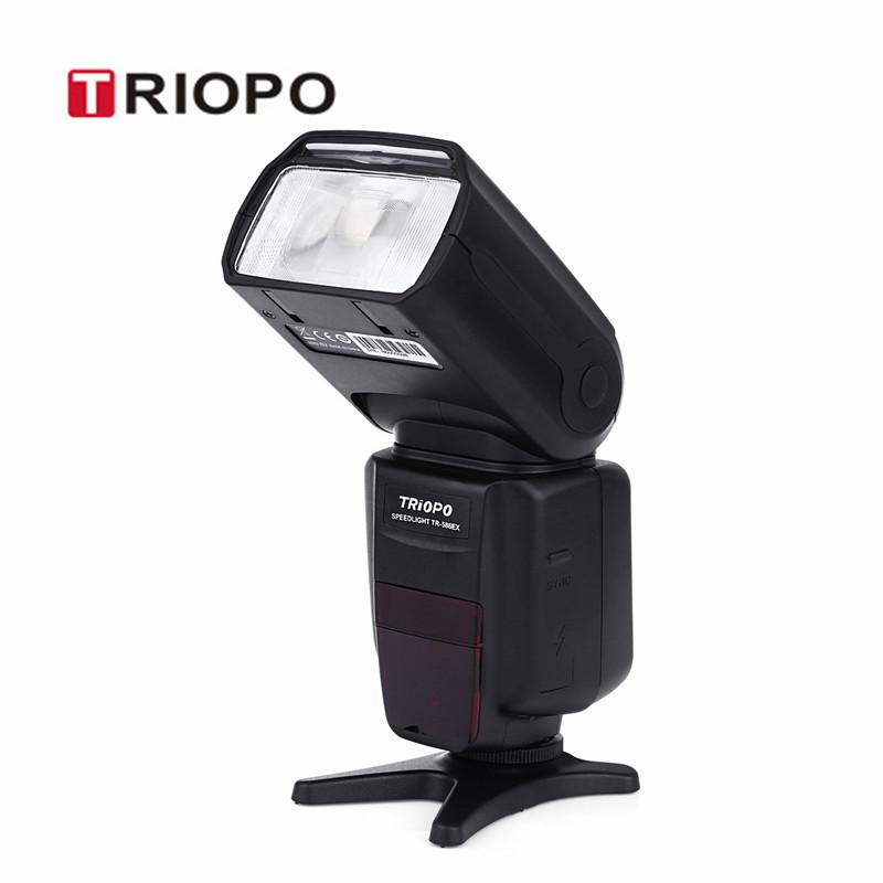 Prix pour Chaude triopo tr-586ex n sans fil ttl/m/multi/février/maître/esclave/s1/s2 appareil photo flash speedlite avec lcd écran pour nikon caméra