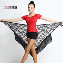 Newest fashion Lace Sexy Latin dance tassel Triangle towel for women/female/girl/lady dancers, costume Performance accessories