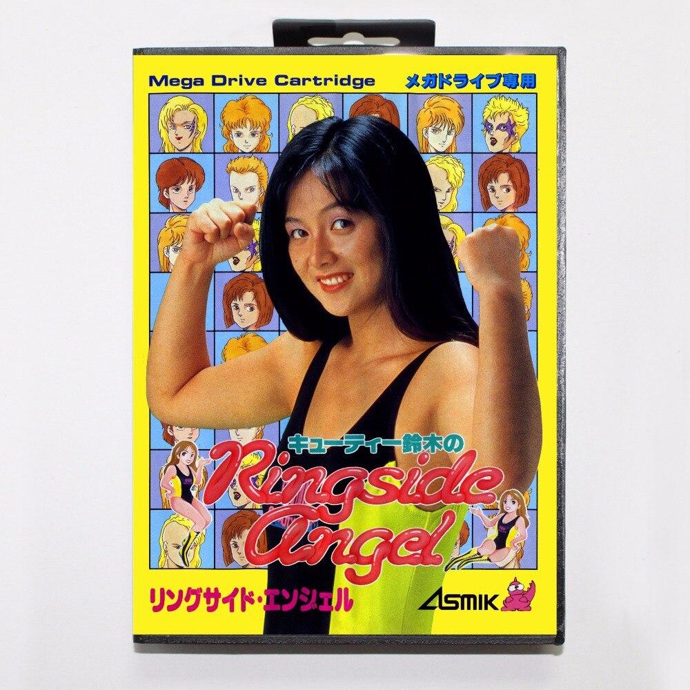 Cutie Suzuki no Ringside Angel Game Cartridge 16 bit MD Game Card With Retail Box For Sega Mega Drive For Genesis