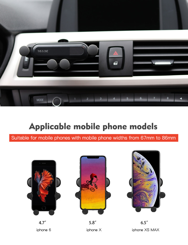08Creative Car Mount Five-Point Mobile Phone Holder