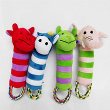 Lovely Pet Toys Dog Puppy Chew Squeaker Squeaky Plush Sound Cartoon Toys New Wholesale Free Shipping HH4