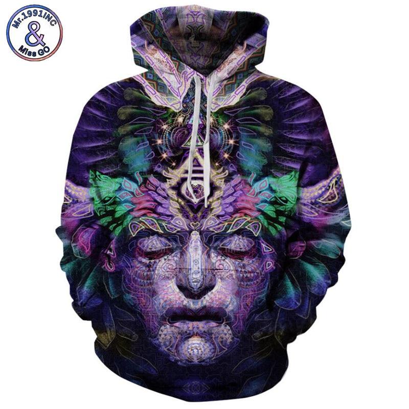 Mr.1991INC 2018 new Purple abstract pattern 3d Sweatshirts Men/women hoodie sweatshirt Casual Hooded Pullovers Men Hoodies M002