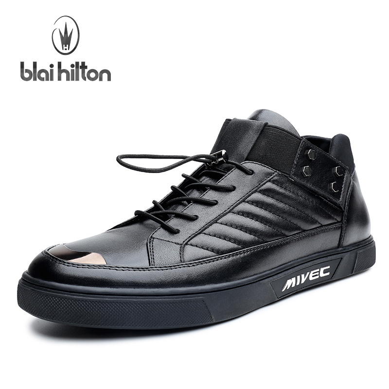 Blai Hilton 2017 New Fashion Spring/Autumn men shoes Genuine Leather Lace-Up shoes Breathable/Comfortable Men's Casual Shoes klywoo new white fasion shoes men casual shoes spring men driving shoes leather breathable comfortable lace up zapatos hombre