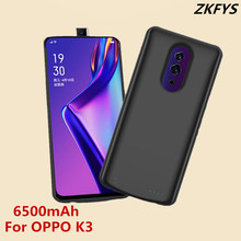 6500mAh Power Bank Back Clip Battery Charger Case For OPPO K3 High Quality Ultra Thin Fast External Backup Charging