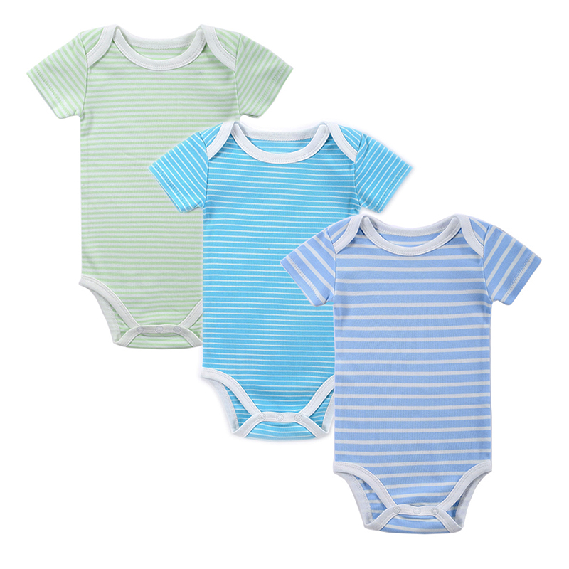 Mother Nest 3 Pieceslot Fantasia Baby Bodysuit Infant Jumpsuit Overall Short Sleeve Body Suit Baby Clothing Set Summer Cotton (4)