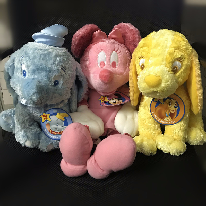 NEW Marie Cat and Dumbo and the Tramp Yellow Dog plush toy stuffed toys dolls A birthday present for your child