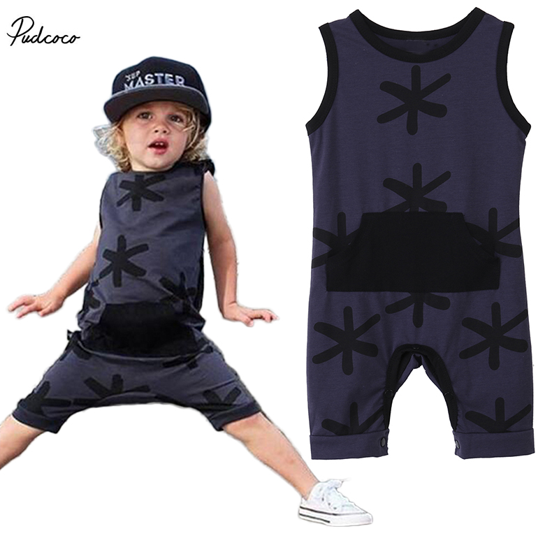 Babies boy one-piece pocket   romper  ,Baby Kids Toddler Girls Boys Snowflake Printed   Rompers   Outfits Sunsuit 0-3Y clothing