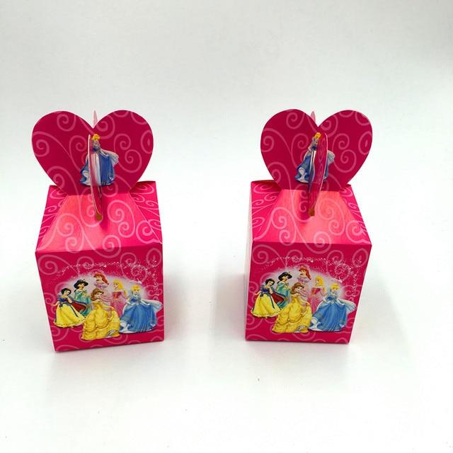 6pcs Lot Princess Candy Bo Six Princesses Theme Gift Kids Favors Case