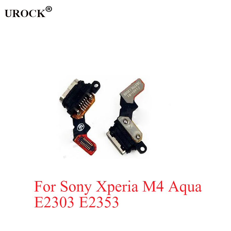 Original For Sony Xperia M4 Aqua E2303 E2353 Micro USB Charger Dock Connector Charging Port Flex Cable Replacement
