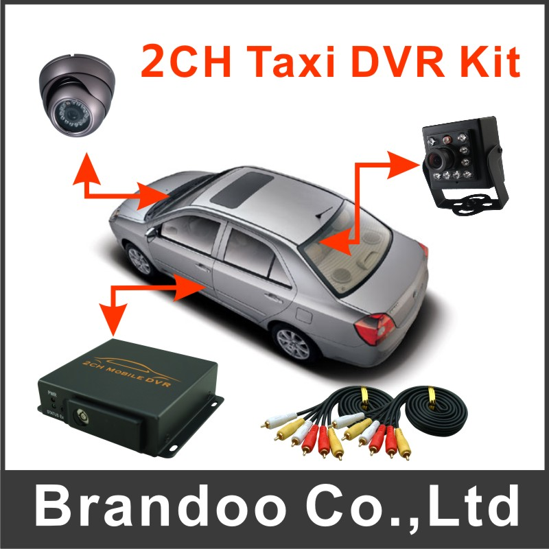 2CH Taxi DVR Kit Mobile DVR For Car Vehicle Truck Used With 2 Camera 4ch d1 sd card mini mobile video surveillance dvr car dvr kit including camera and monitor for taxi vehicle