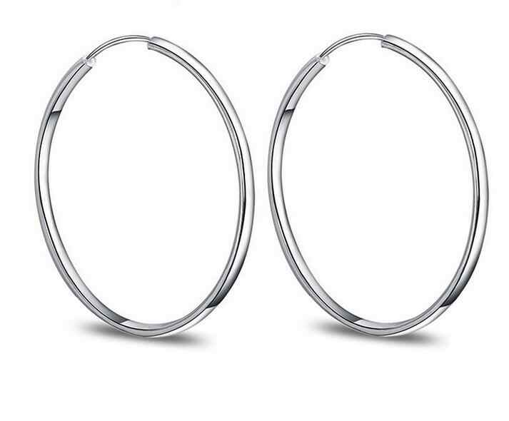 XIYANIKE 925 Sterling Silver Fashion Wild Exaggerated Circle Earring For Women Sterling-silver-jewelry Oorbellen Brincos VES6507