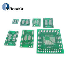 7 видов печатной платы SOP8 SOP14 SOP16 SOP20 SOP24 SOP28 QFP FQFP TQFP Поворотный к DIP адаптер конвертер пластина TSSOP 8 14 16 20 24 28