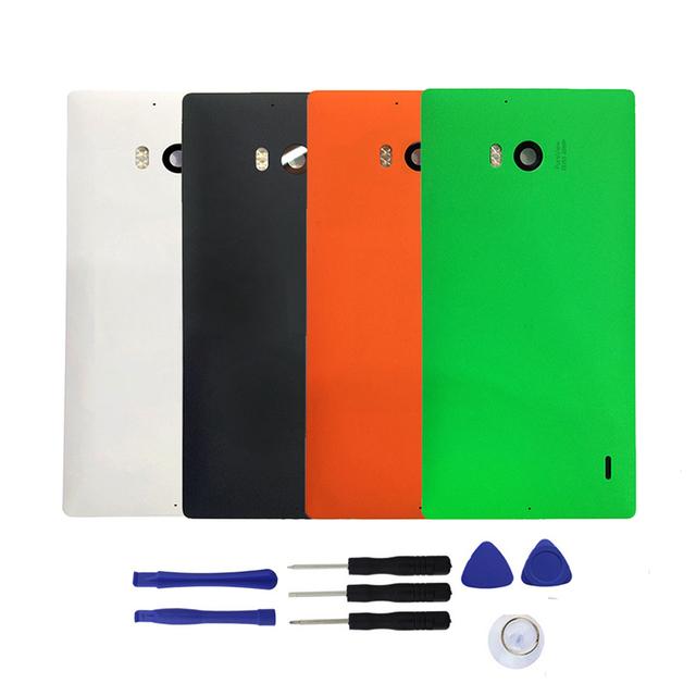 Substituição para nokia lumia 930 caso tampa traseira porta da bateria habitação com nfc & flash da lente + ferramentas, frete Grátis & Número de Rastreamento