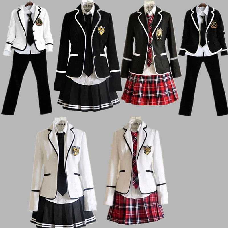 2018 New School Uniform Set College Wind Schoolchildren Japan JK England Class Suit Jk Uniform Suit