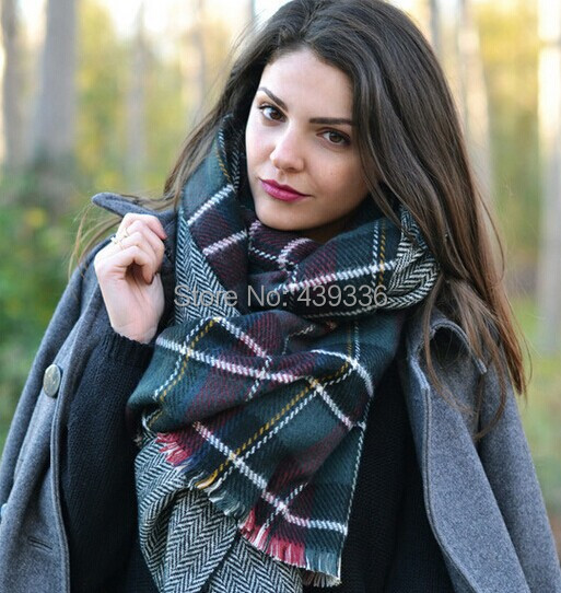 Fashion Lady Women Blanket Oversized font b Tartan b font Scarf