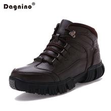 DAGNINO Brand Winter Warm Plush Snow Boots Men's Leisure Genuine High-t