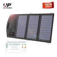 Cargador de batería Solar ALLPOWERS portátil 5 V 15 W USB Dual + tipo C cargador de Panel Solar portátil al aire libre ¡Plegable Panel Solar!