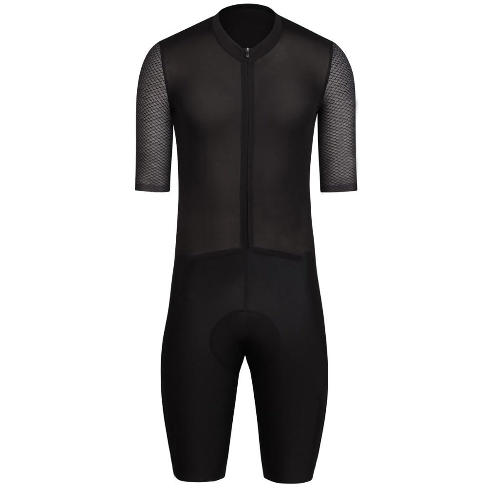 2017 ехать лучше полный черный Pro команда Аэро Велоспорт скафандр с коротким рукавом высокое качество велосипедов AEROSUIT комплект с высокой плотностью коврик