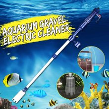 Automatic Electric Aquarium Gravel Cleaner Water Filter Washer Siphon Vacuum Water Pump for Fish Tank Aquarium Cleaner EU 220V(China)