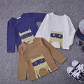 2016 newest baby Kids Long Sleeve cotton T Shirt  children dog Pattern T-shirts for spring & autumn  3 Colors free shipping