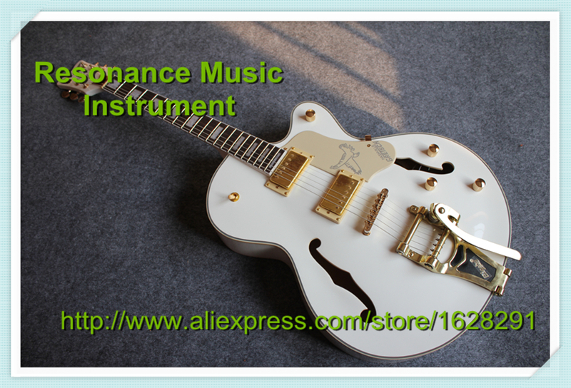 Top Selling White Falcon Gretsch Guitars Electrica China Golden Hardware & Bigsby Guitar Body Kits Custom Available top selling chinese sg 400 electric guitar zebra stripe finish guitars body