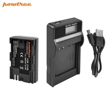 Powtree For Canon 7.2V 2800mAh LPE6 LP E6 LP-E6 Camera Battery + LCD Charger Replacement EOS 5D Mark II 5DS 6D 60D 7D 70D 80D