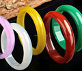 Wonderful 5 Colors for choose red green Natural Agate Jade bracelet lucky bangle fashion jewelry bangles 58-62mm