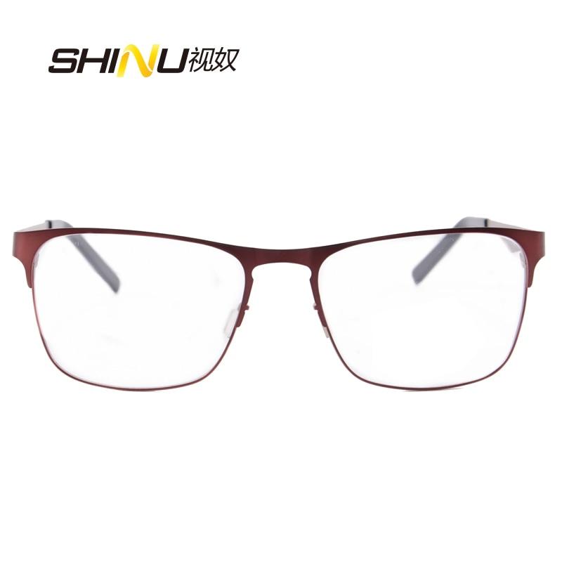 očala moški optična očala okvir prilagodljivo kovinsko steklo iz - Oblačilni dodatki - Fotografija 4