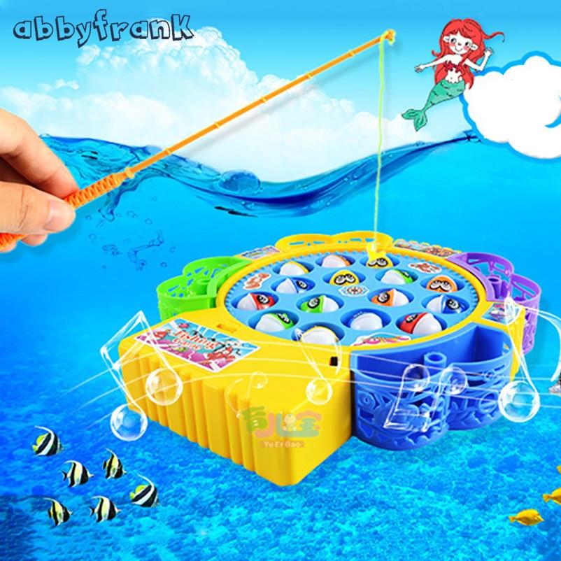 Kleinkindspielzeug Electric Musical Angelspiel Set mit 45 Fische Wasser Spaß Spielzeug für
