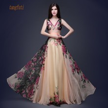 49c5528820 Buy floral print evening gowns and get free shipping on AliExpress.com