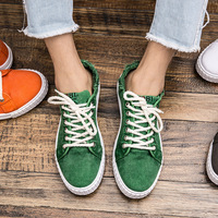 2017 Summer Men Canvas Shoes Fashion Retro Artistic Youth Classic White Shoes Lace Up Casual Flats