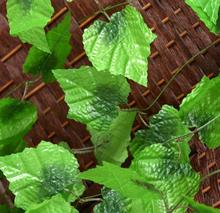 240cm/94.48 Long Artificial Plants Green Ivy Leaves 6PCS Plant Silk Grape Leaf Garland Faux Rattan Vine