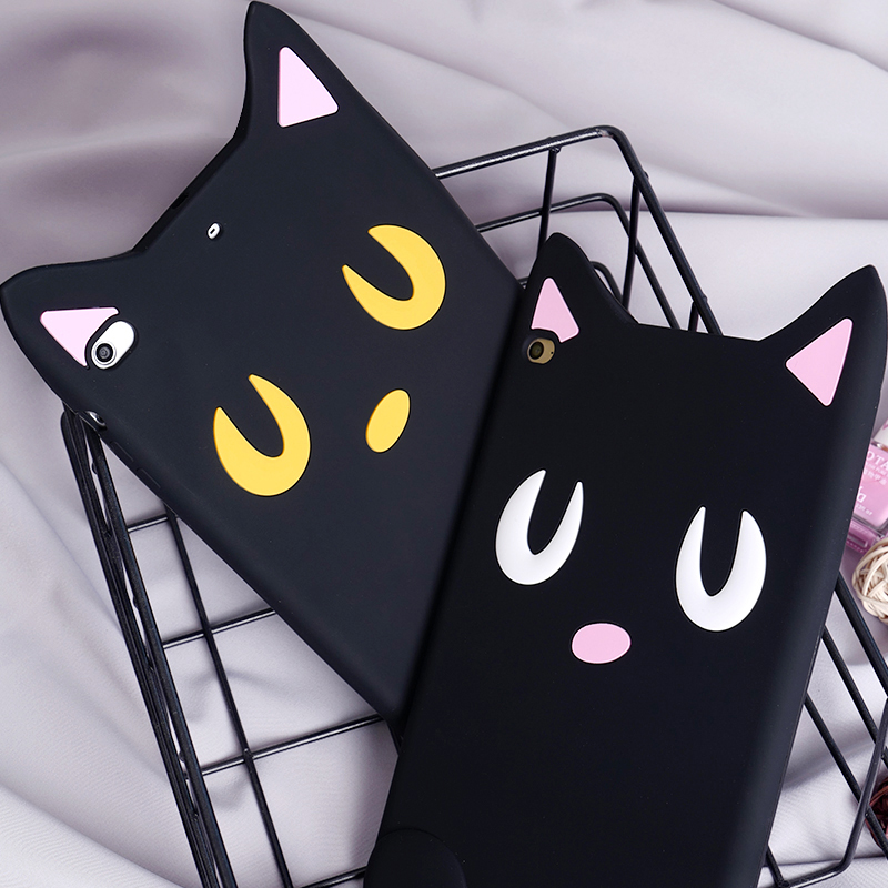Case For New iPad 9.7 2017, Cartoon Cute Silicone Soft Back Cover case For Apple iPad 9.7 2017 Tablet case protective shell GD