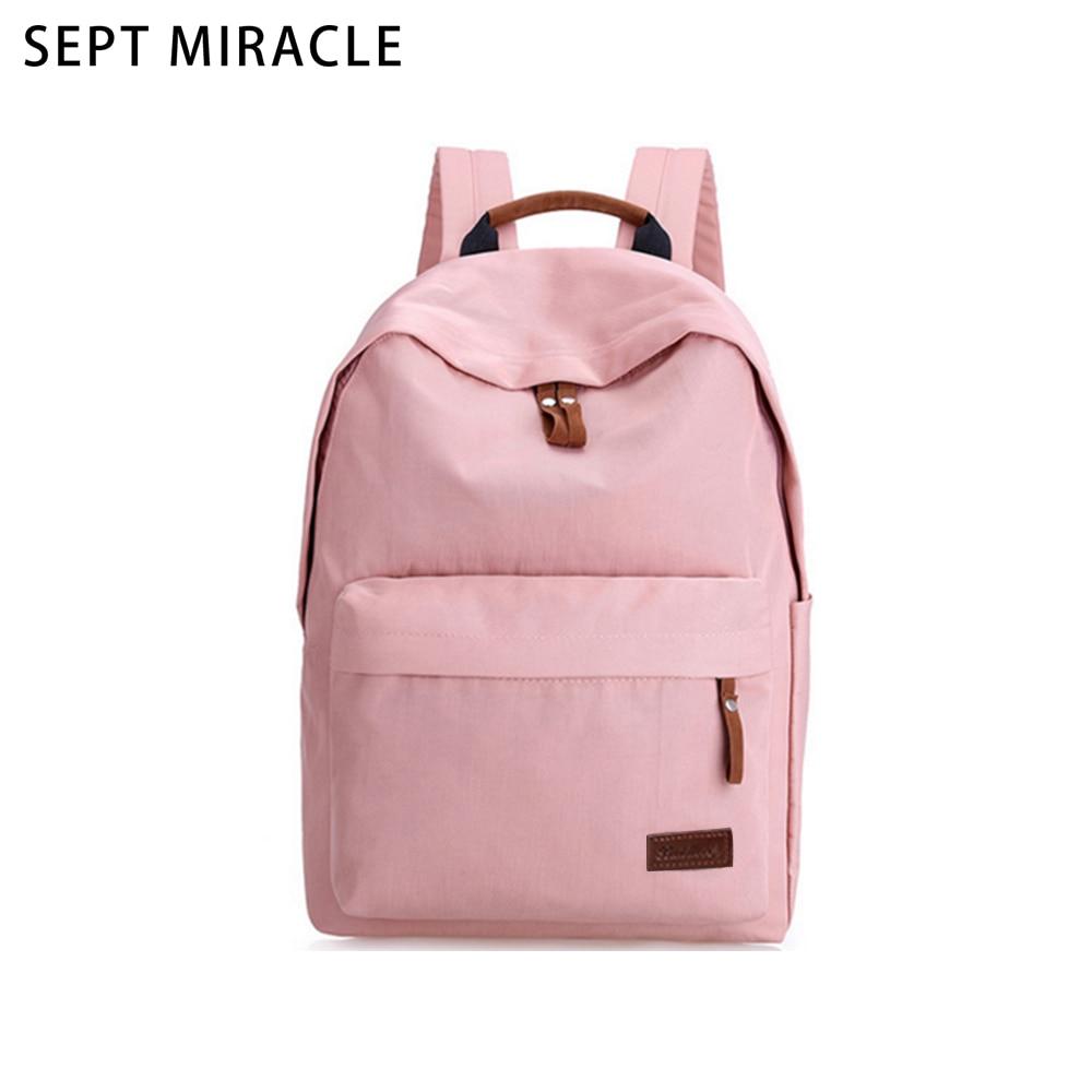 Backpack Women Bag Simple Color Canvas Students School Bag Teenage Rucksack Girls New Solid Casual Shoulder Travel Business Bag