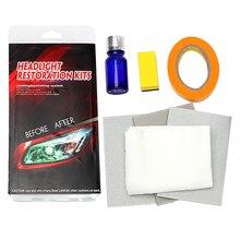 Восстанавливает четкость налобного фонаря полировки против царапин фар Restorstion Kit DIY УФ-защитный для автомобиля головной лампы lense