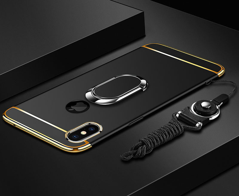 HTB1dKPUONnaK1RjSZFtq6zC2VXad EPENA Ultra Thin For iphone 11 pro Xs Max XR Plating Hard Pc Cover 3 In 1 Case For iphone x 7 8 6S 6 Plus Case phone Ring Lanyard