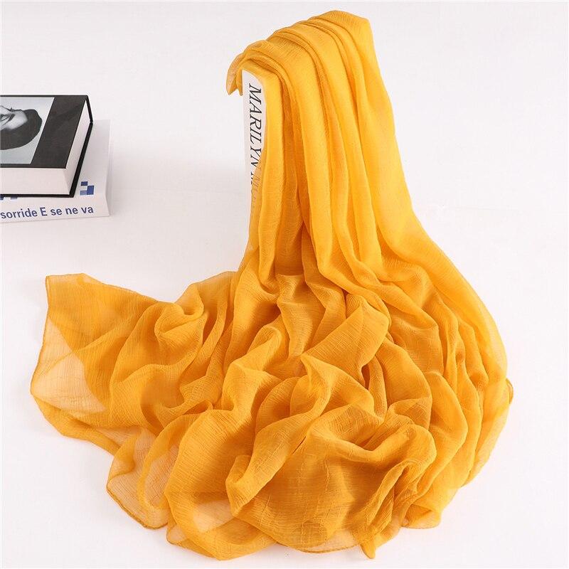 2020 Designer Brand Women Scarf Summer Crocodile Fold Silk Scarves For Lady Shawls Wraps Pashmina Female Bandana Foualrd Hijabs