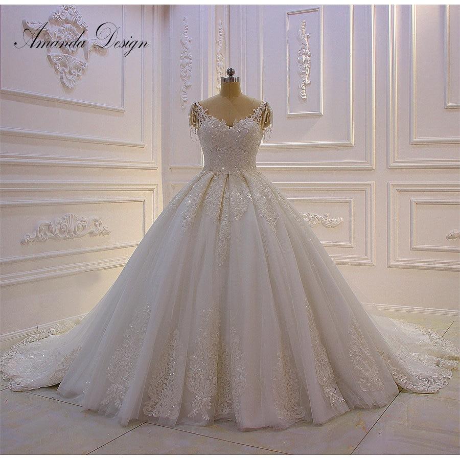 Lace Wedding Gown With Straps: Aliexpress.com : Buy Amanda Design Hochzeitskleid Lace