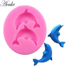 New dolphin Fudge Cake baking mold Mousse Styling Mold. Silicone L010