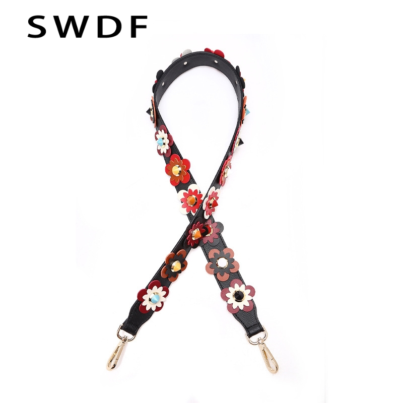 SWDF Fashion PU Leather Flower and Rivet Shoulder Strap Bags For Women Handbag Accessoires