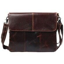 New Arrive Brand Genuine Leather Bag Retro Men's Messenger Shoulder Bags Business Briefcase Crossbody Bag Men's Travel Handbag