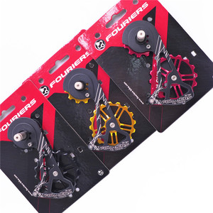FOURIERS OSPW System For SHIMANO RD-R9100/R9150/R8000/R8050 Red Black Oversized Pulley Wheel Ceramic Bearing