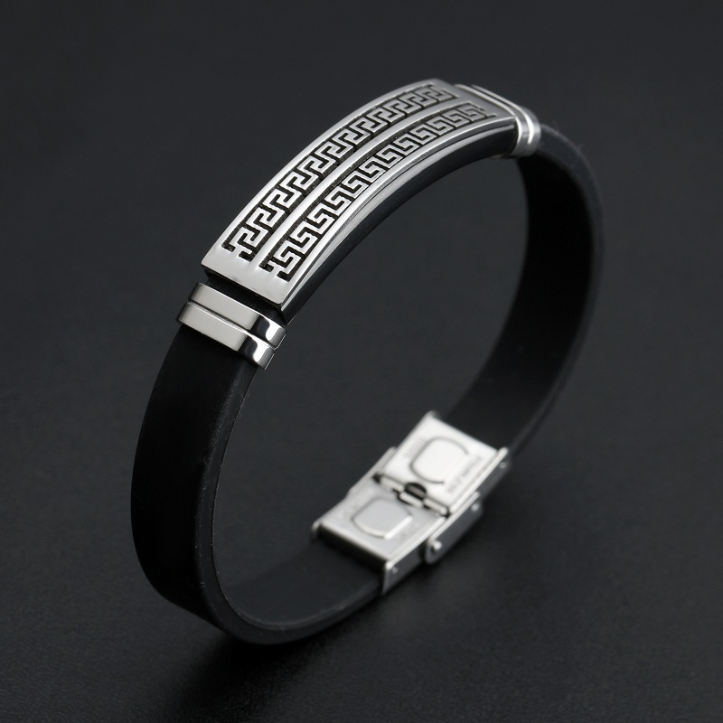 New 2016 Male Great Wall Pattern Stainless Steel Vintage Sils