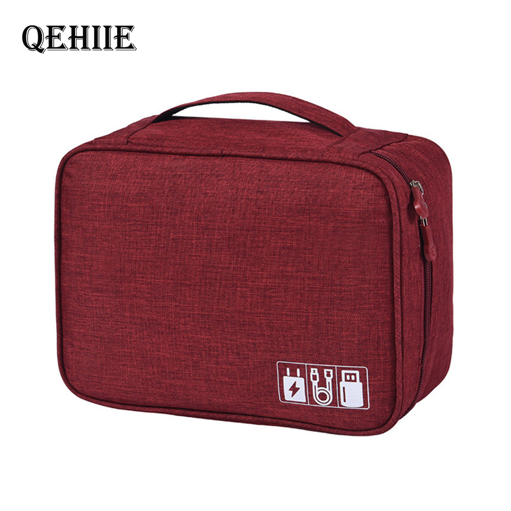Travel Packing Organizers Bags Kit Data Cable U Disk Power Bank Electronic Accessories Digital Gadget Devices Divider Containers