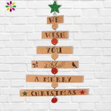 New Christmas Tree Shape Hanging Ornament Decoration For Home Letters Star Pendant Xmas Door Decor