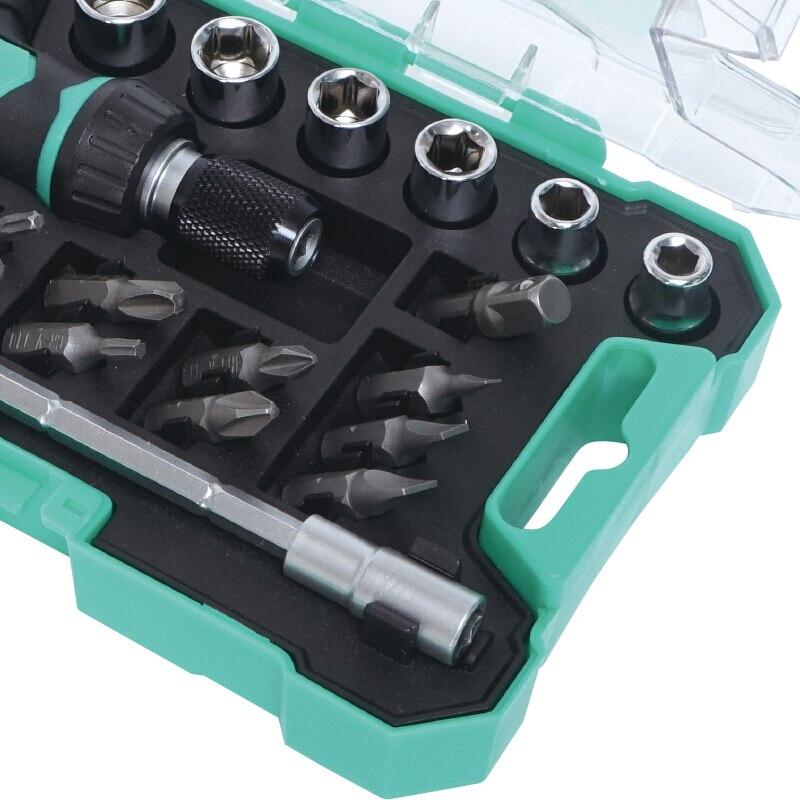 Proskit Naujas 18 iš 1 Mini T formos rankenų reketu rinkinys Mini - Rankiniai įrankiai - Nuotrauka 5