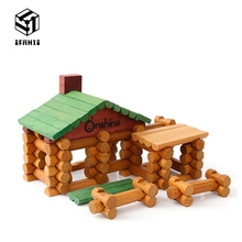 ФОТО 90 est Log Suite Wooden Lincoln Room Creative Models Building Blocks Spell Early Learning Educational Toys