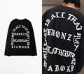 2016 Kanye West Eu Sinto Como Pablo camisa Longa Da Luva t homens Hip Hop Camisetas Hombre Streetwear Camiseta Homme do PABLO Escobar