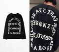 2016 Kanye West I Feel Like Pablo Long Sleeve t shirt Men Hip Hop Camisetas Hombre PABLO Escobar Streetwear Tee Shirt Homme